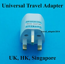 Universal UK AUS USA EURO to United Kingdom HK Singapore AC Power Plug Adapter