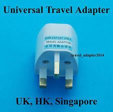 Universal UK AUS USA EURO to United Kingdom HK Singapore AC Power Plug Adapter