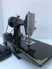 Vintage Singer Sewing Machine Featherweight 221 Scroll Face plate