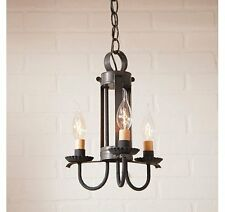 Irvin's Country Small Amherst Hanging Light Chandelier Pendant Blackened Tin NEW