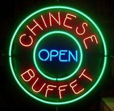 "New Chinese Buffet Open Bar Pub Light Lamp Neon Sign 24""x24"""
