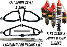 Lonestar +2 A-Arms Axle Elka 3 Legacy Front Rear Shocks Suspension Kit Banshee