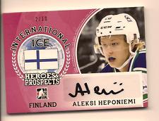 ALEKSI HEPONIEMI 2016-17 LEAF ITG HEROES & PROSPECTS INTERNATIONAL ICE AUTO /10