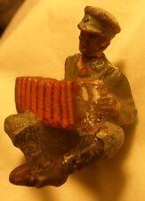 Hausser Elastolin Lineol soldat Bandonium spieler  7,5 cm