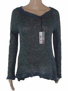 maglioncino maglione donna verde lana mohair taglia m medium