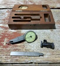 Federal Testmaster No T 1 001 Dial Indicator With Wooden Case Machinist Tool