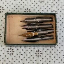 VINTAGE LOT OF 8 USED FOUNTAIN PEN NIBS TIPS