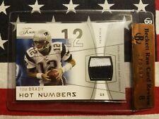 2004 Fleer Flair Tom Brady PRIME 2-color jersey patch #52/75
