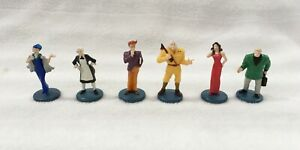 CLUE GAME REPLACEMENT CHARACTER TOKENS / PEOPLE LIKE - SET OF 6