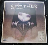 """SEETHER 12"""" VINYL RECORD FINDING BEAUTY IN NEGATIVE SPACES MAGENTA MARBLE 2xLP"""