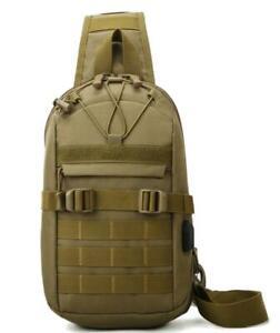 Men Backpack Tactical Molle Sling Chest Pack Messenger Shoulder Bag Outdoor