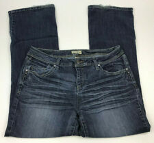 EARL Jeans DARKER Medium Wash EMBELLISHED Rhinestone Bootcut STRETCH Women Sz 12