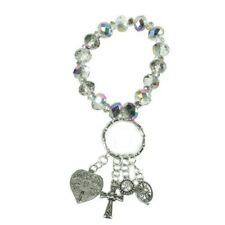 Alexa's Angels Key Ring Bracelet #32047 Clear, Free Shipping!