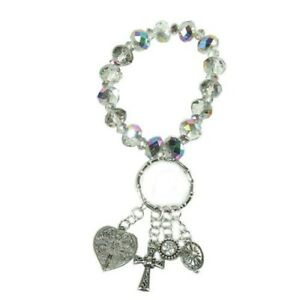 Alexa's Angels Key Ring Bracelet #32047 Clear, Free Shipping!