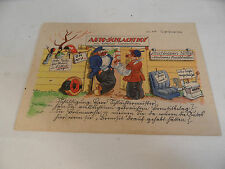 alte Postkarte Auto Schlachthof