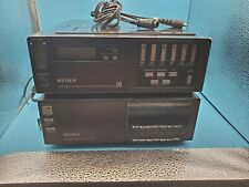 Sony Betamax Sl-2005 Compact Beta Vcr Tuner Tt-2005 portable videocass-recorder