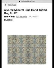Alvarez Mineral Blue Hand Tufted Rug 9x12