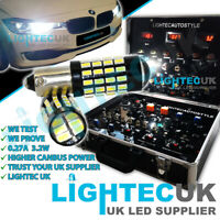 2x BAX9S H6W 433 54 SMD XENON LED CANBUS SIDELIGHT BULBS 6000K UK AUDI BMW VW