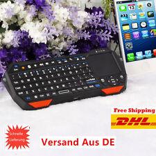 Mini Bluetooth QWERTY Tastatur Keyboard Touchpad f Handy PC Smart TV FE