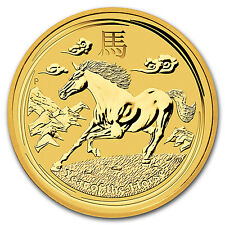 2014 Australia 1 oz Gold Lunar Horse BU (Series II) - SKU #78078