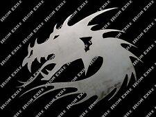 Dragon Head Chinese Oriental Medieval Tribal Metal Wall Art Decor Plasma Cut out