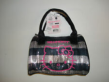 Hello Kitty Small Pink With Face Satchel Tote Bag Purse Shiny Patent - NEW