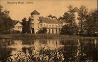 Rheinsberg Mark alte Postkarte 1913 Blick auf das Schloß Teich ungelaufen