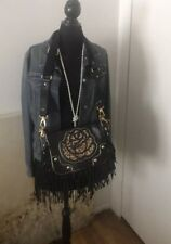 Betsey Johnson Genuine leather Leopard handbag