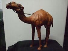 More details for vintage leather camel figurine large size.
