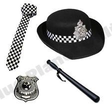 Wpc police woman chapeau cravate tonfa badge ladies fancy dress costume outfit