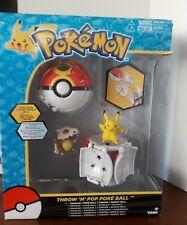 Pokemon Throw n Pop Pikachu & Poke Ball Cubone Repeat Action Figure Set Game