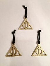 LOT 3 HANDMADE CHRISTMAS ORNAMENT FOR HARRY POTTER DEATHLY HALLOWS FANS GIFT