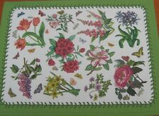 Botanic garden box 4 coton textile chintz napperons table par pimpernel