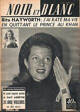 French Mag 1957 NOIR ET BLANC RITA HAYWORTH_GINA LOLLOBRIGIDA_SOPHIA LOREN