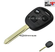 3 Button Remote Car Key Fob Shell + Blade Toy47 For Toyota Corolla Yaris Avensis