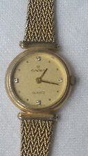 VINTAGE ONSA WATCH RETRO GOLD TONE SWISS MADE MUST SEE