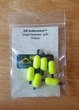 """Ez-Indicators cylinder large 3/8"""" yellow fly fishing strike indicators"""