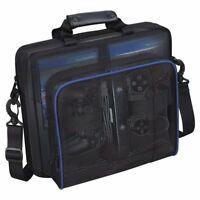 For Sony PlayStation4 PS 4 Black Travel Carry Case Multifunctional Carrying Bag