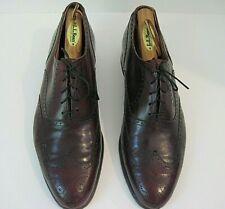 FLORSHEIM ROYAL IMPERIAL OXFORD WINGTIP SHOES, BURGUNDY LEATHER SIZE 9 1/2 C