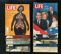 Life Mags 1968, Lot of 14 Assorted Jan/Feb/Jun/Jul/Aug/Sept/Oct/Nov/Dec, Gd-Acpt