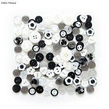 40g Mixed Black Series Buttons Sewing Scrapbook Decor 11-18mm