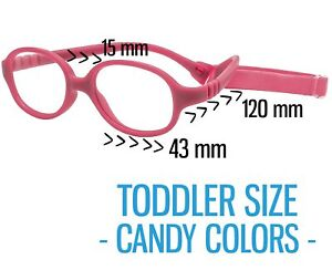 Kids Glasses Frame with Strap TODDLER Baby Unbreakable Flexible 43-15-120