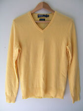 NWT POLO by Ralph Lauren Men's 100% Cashmere Yellow Knit V-Neck Sweater XS $398