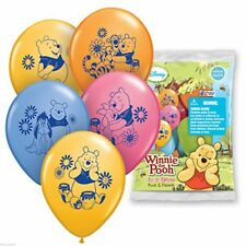 "6 pc 12"" Winnie the Pooh & Friends Happy Birthday Party Latex Balloons Eeyore"