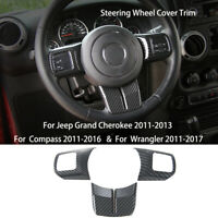 Steering Wheel Cover Trim For Jeep Wrangler 11-17 Grand Cherokee 11-13 Compass
