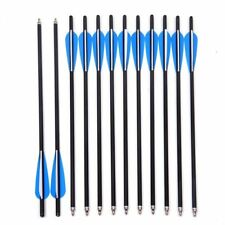 """12pcs 20inch Crossbow Bolts Carbon hunt Arrow With 4"""" vanes Feather US"""