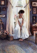 """Steve Hanks, (1949-2015), """"Country Home"""", matted print,9.375""""h x 7.75""""w overall"""