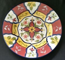 PIER 1 VALLARTA SALAD PLATE(S) RED YELLOW BLUE FLORAL