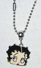 Betty Boop Pendant on  Stainless steel chain made in USA Handmade