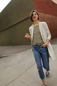 New Anthropologie Pilcro Mid-Rise Slim Boyfriend Jeans 27 med blue $130 NWT